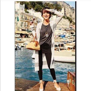 • Cabi • Vineyard Open Cardigan Sweater Stripe Sm